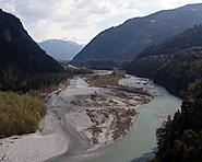 Les paysages alluviaux près de Rhäzüns