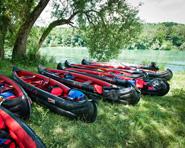 Geführte Tour: Kanu- / Schlauchbootfahrten auf dem Rhein